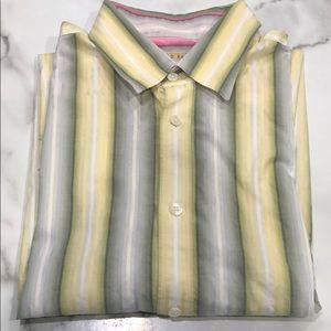 Ted Baker Men's Short Sleeve Button Up Sz. L